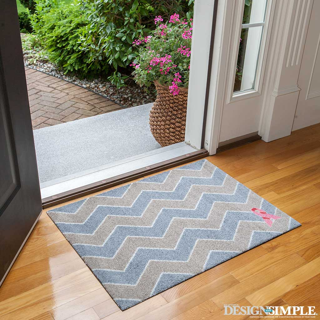 Pink Ribbon Welcome Mats from Carpet One
